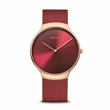 BERING Damen Analog Quarz Uhr mit Edelstahl Armband 13338-Charity - 1