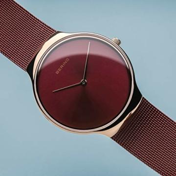 BERING Damen Analog Quarz Uhr mit Edelstahl Armband 13338-Charity - 3