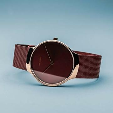 BERING Damen Analog Quarz Uhr mit Edelstahl Armband 13338-Charity - 4