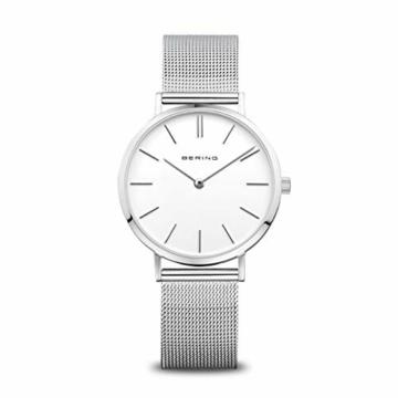 BERING Damen Analog Quarz Uhr mit Edelstahl Armband 14134-004 - 1