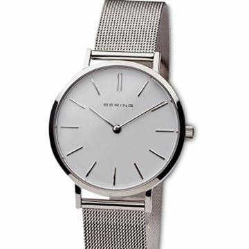 BERING Damen Analog Quarz Uhr mit Edelstahl Armband 14134-004 - 2