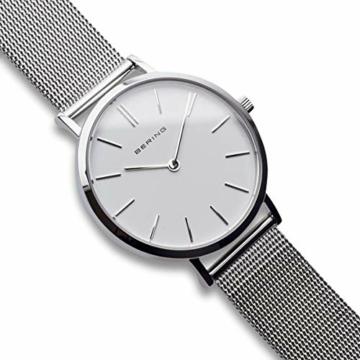 BERING Damen Analog Quarz Uhr mit Edelstahl Armband 14134-004 - 3
