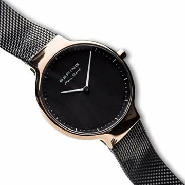 Bering Damen Analog Quarz Uhr mit Edelstahl Armband 15531-262 - 3