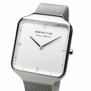 BERING Damen Analog Quarz Uhr mit Edelstahl Armband 15832-004 - 2