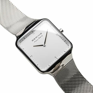 BERING Damen Analog Quarz Uhr mit Edelstahl Armband 15832-004 - 3