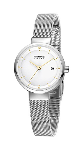 Bering Damen Analog Solar Uhr mit Edelstahl Armband 14426-001 - 2