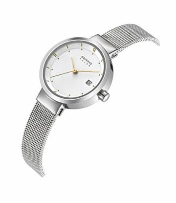 Bering Damen Analog Solar Uhr mit Edelstahl Armband 14426-001 - 3