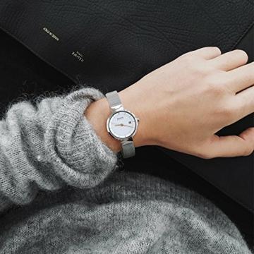 Bering Damen Analog Solar Uhr mit Edelstahl Armband 14426-001 - 4