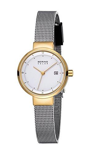 Bering Damen Analog Solar Uhr mit Edelstahl Armband 14426-010 - 2