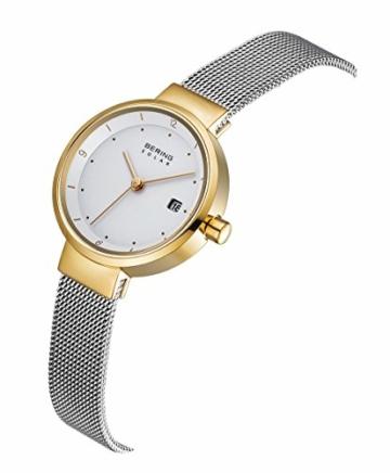 Bering Damen Analog Solar Uhr mit Edelstahl Armband 14426-010 - 3