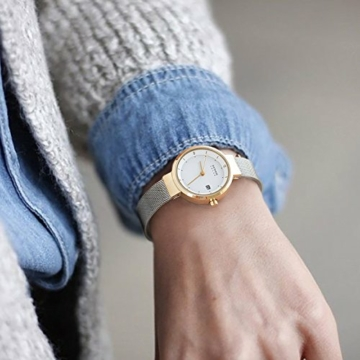 Bering Damen Analog Solar Uhr mit Edelstahl Armband 14426-010 - 4