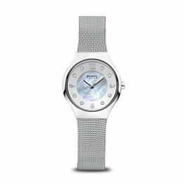 Bering Damen Analog Solar Uhr mit Edelstahl Armband 14427-004 - 1