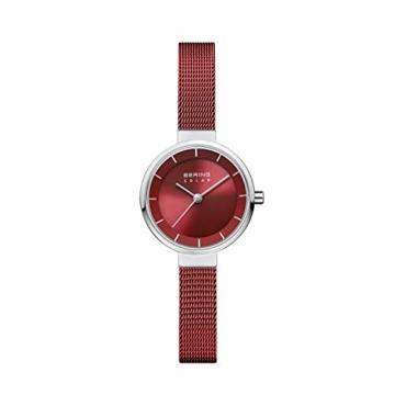 BERING Damen Analog Solar Uhr mit Edelstahl Armband 14627-303 - 1
