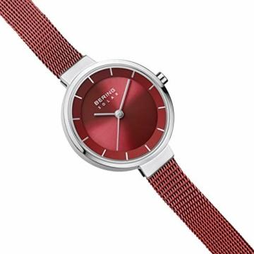 BERING Damen Analog Solar Uhr mit Edelstahl Armband 14627-303 - 2