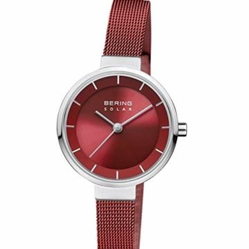 BERING Damen Analog Solar Uhr mit Edelstahl Armband 14627-303 - 3