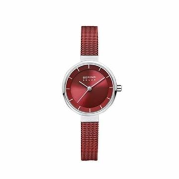 BERING Damen Analog Solar Uhr mit Edelstahl Armband 14627-303 - 4
