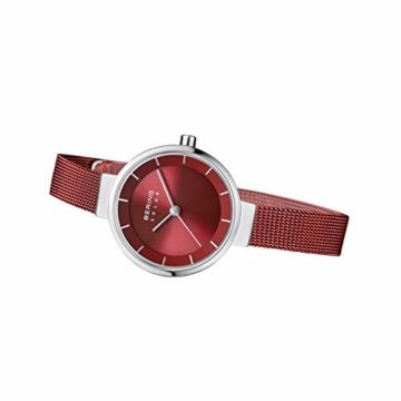 BERING Damen Analog Solar Uhr mit Edelstahl Armband 14627-303 - 5