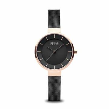 BERING Damen Analog Solar Uhr mit Edelstahl Armband 14631-166 - 1