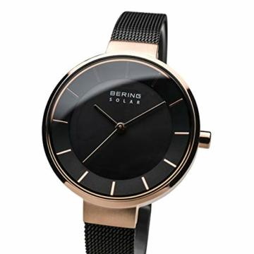 BERING Damen Analog Solar Uhr mit Edelstahl Armband 14631-166 - 2