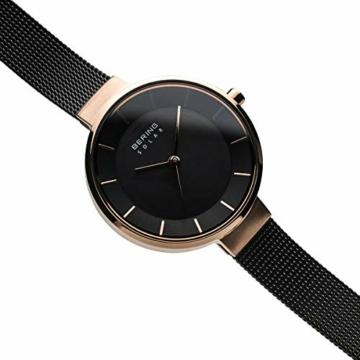 BERING Damen Analog Solar Uhr mit Edelstahl Armband 14631-166 - 3
