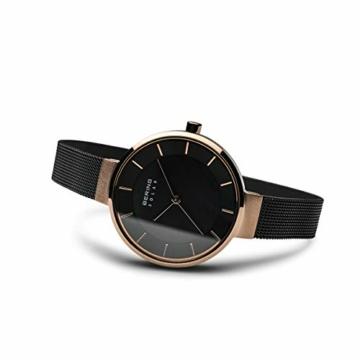 BERING Damen Analog Solar Uhr mit Edelstahl Armband 14631-166 - 4