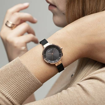 BERING Damen Analog Solar Uhr mit Edelstahl Armband 14631-166 - 5