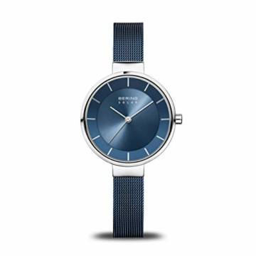 Bering Damen Analog Solar Uhr mit Edelstahl Armband 14631-307 - 1