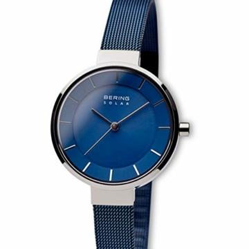 Bering Damen Analog Solar Uhr mit Edelstahl Armband 14631-307 - 2
