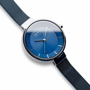 Bering Damen Analog Solar Uhr mit Edelstahl Armband 14631-307 - 3
