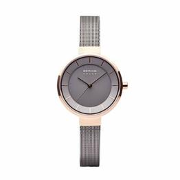 BERING Damen Analog Solar Uhr mit Edelstahl Armband 14631-369 - 1