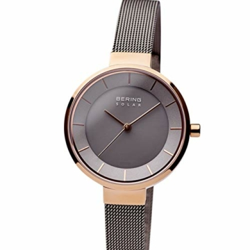 BERING Damen Analog Solar Uhr mit Edelstahl Armband 14631-369 - 2