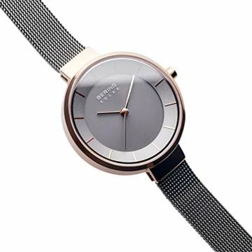 BERING Damen Analog Solar Uhr mit Edelstahl Armband 14631-369 - 3