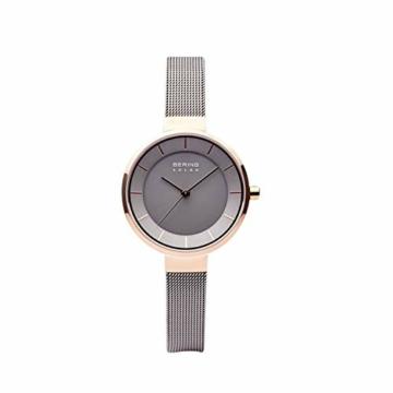 BERING Damen Analog Solar Uhr mit Edelstahl Armband 14631-369 - 4