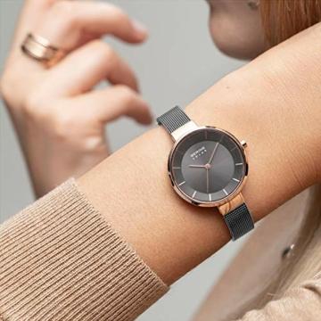 BERING Damen Analog Solar Uhr mit Edelstahl Armband 14631-369 - 6