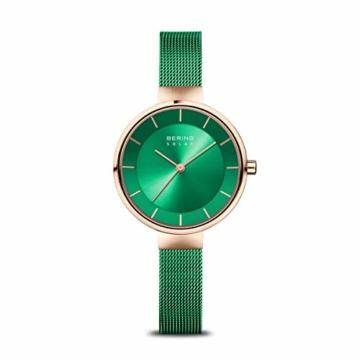 BERING Damen Analog Solar Uhr mit Edelstahl Armband 14631-Charity - 1