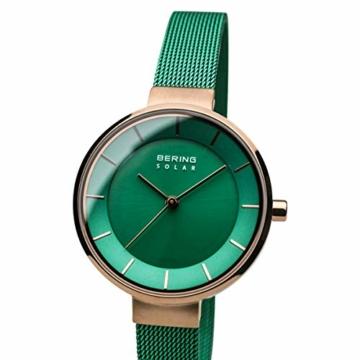 BERING Damen Analog Solar Uhr mit Edelstahl Armband 14631-Charity - 2