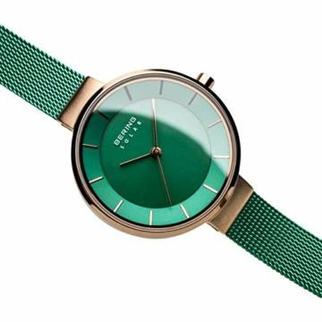 BERING Damen Analog Solar Uhr mit Edelstahl Armband 14631-Charity - 3