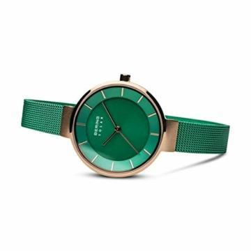 BERING Damen Analog Solar Uhr mit Edelstahl Armband 14631-Charity - 4