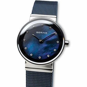 BERING Damen-Armbanduhr Analog Quarz Edelstahl 10126-307 - 2