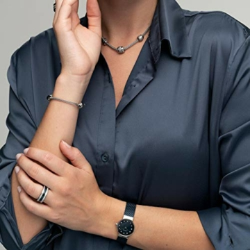 BERING Damen-Armbanduhr Analog Quarz Edelstahl 10126-307 - 5