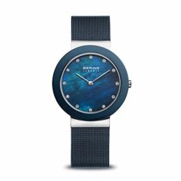 BERING Damen-Armbanduhr Analog Quarz Edelstahl 11435-387 - 1
