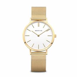 BERING Damen-Armbanduhr Analog Quarz Edelstahl 14134-331 - 1