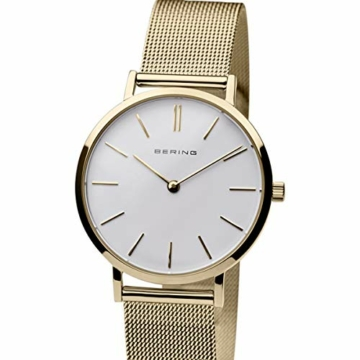 BERING Damen-Armbanduhr Analog Quarz Edelstahl 14134-331 - 4