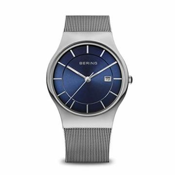 Bering Herren Analog Quarz Uhr mit Edelstahl Armband 11938-003 - 1