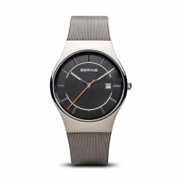 Bering Herren Analog Quarz Uhr mit Edelstahl Armband 11938-007 - 1