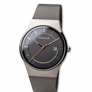 Bering Herren Analog Quarz Uhr mit Edelstahl Armband 11938-007 - 2