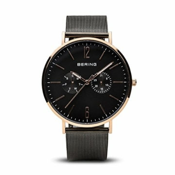 BERING Herren Analog Quarz Uhr mit Edelstahl Armband 14240-163 - 1
