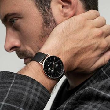 BERING Herren Analog Quarz Uhr mit Edelstahl Armband 14240-163 - 3