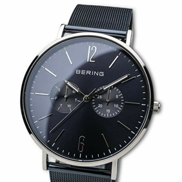 BERING Herren Analog Quarz Uhr mit Edelstahl Armband 14240-303 - 2