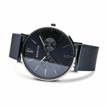BERING Herren Analog Quarz Uhr mit Edelstahl Armband 14240-303 - 4